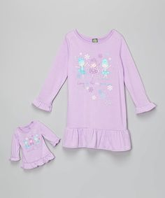 Loving this Lilac 'Ice Princess' Nightgown & Doll Outfit - Girls on #zulily! #zulilyfinds