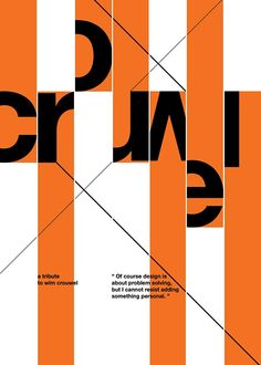 Wim Crouwel tribute posters on Behance