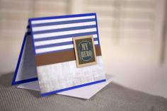 blue my hero homemade father's day card by cassandra7creates, $4.00