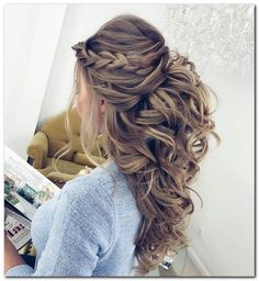 Wedding Hairstyles Half Up and Half Down: How To and 100+ Photos Saç http://turkrazzi.com/ppost/365143482275249261/