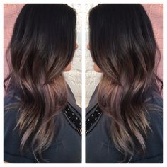 Black brown ash ombré balayage violet ash blonde chocolate violet 2016 hair