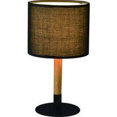 Lampe en métal et bois