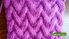 Punto CANASTA. Tejido con dos agujas # 111 Patterns knitting