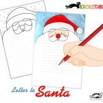 A letter to Santa - free downloadable template for kids