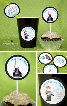 Star Wars Graduation Free Party Printables via LivingLocurto.com #legos #starwars #party