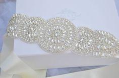 Crystal Vintage Wedding Bride Sash Belt Art by CrystalandPearlBC, £66.95