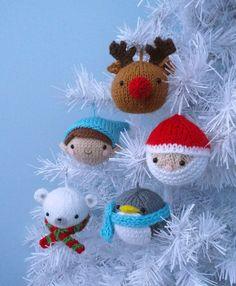 Amigurumi Knit Christmas Balls Ornament Pattern Set Digital