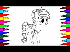 How To Draw MLP Apple Jack l Coloring Pages Videos for Kids l Coloring with Colored Markers - YouTube