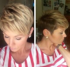 Blonde Layered Short Hair