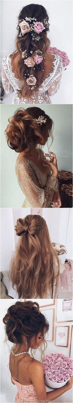 Ulyana Aster Wedding Hairstyles Inspiration - www.ulyanaaster.com | Deer Pearl Flowers
