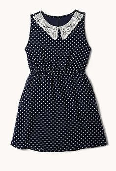 Dots & Lace Dress (Kids) | FOREVER21 girls - 2061443735 - http://AmericasMall.com/categories/juniors-teens.html