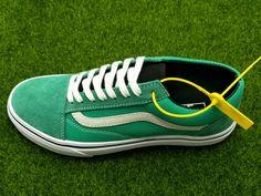 9186dec3bfe39c Vans Old Skool Green White VN000VOKC5N Skate Shoe amazon Recommend Vans For  Sale  Vans