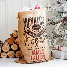 The Grenville Christmas Sack. Denim Christmas Stocking // Denim Christmas Santa Stocking // Personalized Christmas Gift Ideas // Personalized Christmas Decorations // Gifts Less Ordinary