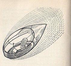 Georgii Krutikov, The Flying City (VKhUTEMAS diploma project, 1928)   The Charnel-House