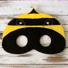 Children's Felt Bumble Bee Mask (7.99 USD) by LilPitPat
