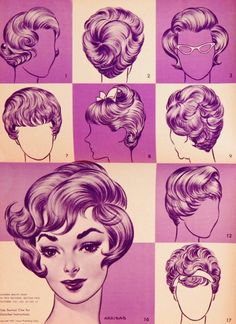 Hairstyles of 1960s    modern Beauty Shop magazine. Yup...my Mom must have taken this mag with her when she went to the beauty shop!