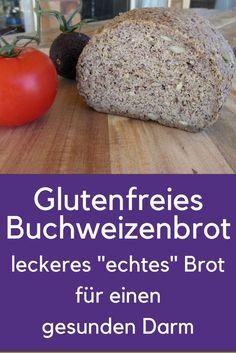 Gluten-free buckwheat bread with psyllium husk. Right le Glutenfreies Buchweizenbrot mit Flohsamenschalen. Richtig lecker und gesund für… Gluten-free buckwheat bread with psyllium husk. Really tasty and healthy for the intestines. Gluten Free Buckwheat Bread, Paleo Bread, Sin Gluten, Superfood, Paleo Donut, What Is Gluten Free, Psyllium, Paleo Meal Plan, Gluten Free Pizza