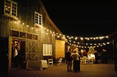 I love the idea of getting married in a barn and having the reception both inside and outside :)