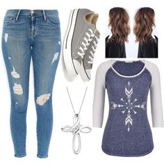 A fashion look from August 2015 featuring maurices t-shirts, Frame Denim jeans and Converse sneakers. Browse and shop related looks.