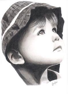Custom hand drawn pencil drawing portrait 8 x by VeronicaCrockford, $62.00