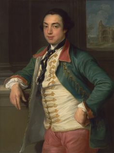 James Caulfeild, 4th Viscount Charlemont (Later 1st Earl of Charlemont), between 1753 and 1756, by Pompeo Batoni, 1708-1787, Italian, Yale Center for British Art, Paul Mellon Collection