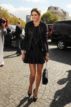 Olivia Palermo  arriving at the Christian Dior Spring-Summer 2013 Ready-To-Wear collection show in Parisㅣ September, 2012