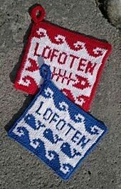 Lofoten Grytelapper pattern by Fru Soleng Lofoten, Pot Holders, Ravelry, Christmas Ornaments, Knitting, Holiday Decor, Pattern, Design, Crochet