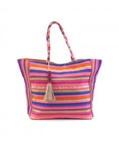 Bolso textil rayas LH BY LA HALLE Halle, Textiles, Outlet, Bags, Fashion, Good Things, Winter, Zapatos, Women