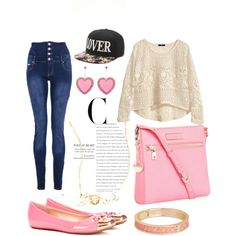 """part of pink"" by dahliafahrian on Polyvore"