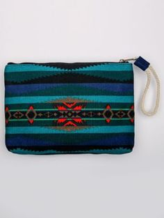 LAHAINA WAVE CANVAS ZIP POUCH