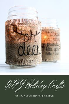 Create your own holiday crafts using NuFun's easy-to-use transfer paper!