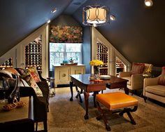 Bonus Room Above Garage Design Ideas, Pictures, Remodel, and Decor - page 19 Attic Remodel, Home, Attic Apartment, Bonus Room, Wine Cellar Design, Bonus Room Design, Room, Room Above Garage, Room Design