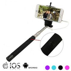 SELFIE STICK WITH CABLE FOR IPHONE