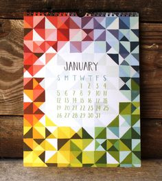 Pieces and Patterns Illustrated 2014 Wall Calendar by 1canoe2, $25.00