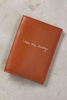 Wanderlust Leather Passport Case - http://anthropologie.com