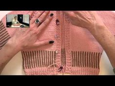 Placing Buttons - Video from Very Pink Knits