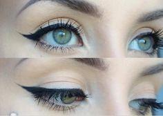 How To Winged Eyeliner for Hooded Eyes! Maybelline Eye Studio Lasting Dr...