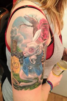 Alice in Wonderland Tattoo by Halo Jankowski