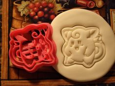 Pokemon Inspired Clefairy Cookie Cutter Stamp Set Clefable Pink BPA FREE
