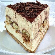 No bake Tiramisu cheesecake.