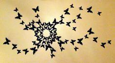 3D Wall Butterfly Art- similar to Serena Van Der Woodsen's bedroom on Gossip Girl $18 for 22 butterflies