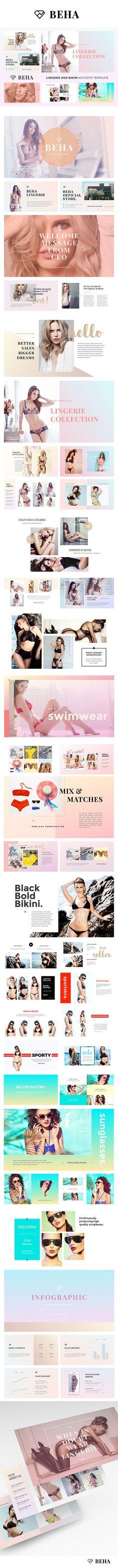 BEHA Lingerie And Bikini Keynote Template. Download here: https://graphicriver.net/item/beha-lingerie-and-bikini-keynote-template/17568137?ref=ksioks