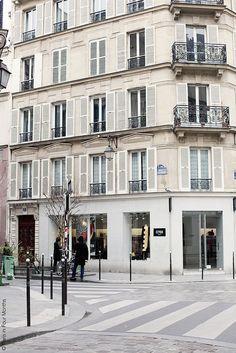 Corner of Le Marais, Paris Tour Eiffel, Paris France, Paris Balcony, Building Front, Paris Love, Paris Chic, Paris Images, Montmartre Paris, Belle Villa