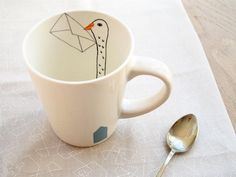 cute handmade mug. perfect to curl up with a hot cup of tea and a great book!