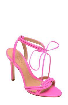 Women's Schutz Yvi Strappy Sandal, Size 6 M - Pink Ankle Strap Sandals, Strappy Sandals, Leather Sandals, Women Sandals, Manolo Blahnik Hangisi, Vintage Heels, Loafers For Women, Women's Pumps, Outfits