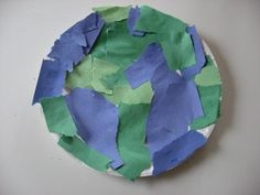Handprint paper plate craft for Earth Day  Watch out Martha