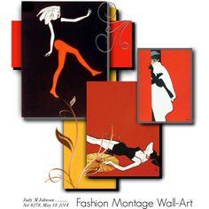 """Fashion Montage Wall-Art"" by judymjohnson on Polyvore"
