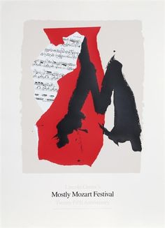 Artwork by Robert Motherwell, Lincoln Center Mostly Mozart, 25th Anniversary, Made of Lithograph and Screenprint on Coventry
