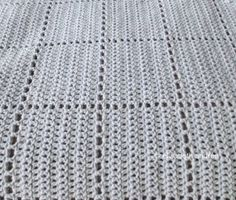 We love the Faux Square Babyghan because it looks like crochet squares but the afghan is crocheted in one piece.