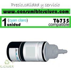 EPSON T6735 CYAN CLARO TINTA COMPATIBLE